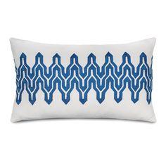 Jill Rosenwald Home Plimpton Flame Decorative Cotton Lumbar Pillow