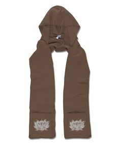 Another great find on #zulily! Brown Lotus Hooded Scarf #zulilyfinds