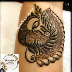 No photo description available. Latest Bridal Mehndi Designs, Peacock Mehndi Designs, Simple Arabic Mehndi Designs, Mehndi Designs For Girls, Mehndi Designs 2018, Mehndi Designs For Fingers, Wedding Mehndi Designs, Henna Tattoo Designs, Henna Tattoos