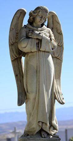 墓地, 天使, 彫刻, 墓, 大理石
