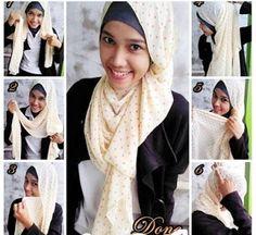 Cara Memakai Jilbab Modern - Cara Memakai Kerudung, tutorial pakai hijab, pashmina, shawl, jilbab cantik, modis, terbaru, pesta