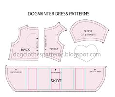 Free Dog Clothes Patterns: Dog winter dress patterns - Pet Dog Boutique Source by veraann Dresses Dog Clothes Patterns, Coat Patterns, Dress Patterns, Sewing Patterns, Pattern Dress, Pajama Pattern, Shirt Patterns, Chihuahua, Dog Coat Pattern