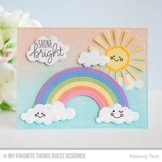 Puffy Clouds Die-namics, Stitched Rainbow Die-namics, Sunny Skies Die-namics, Lucky - Keeway Tsao  #mftstamps