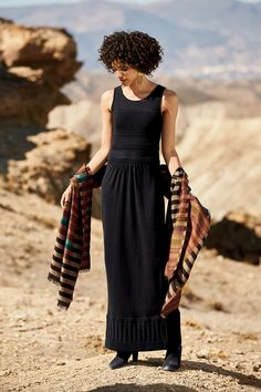 This shawl is so so beautiful! Palomar Dress, Varese Rippled Shawl, Tribal Totem Earrings