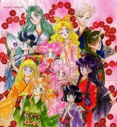 This is a really fun rendition of ALL the Sailor Senshi