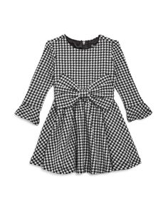 Bardot Junior Bardot Girls' Houndstooth Dress with Bow - Baby Kids - Bloomingdale's Chic Outfits, Girl Outfits, Bardot Junior, Houndstooth Dress, Copenhagen Fashion Week, Dress With Bow, Dress Black, Black Prom, Beautiful Prom Dresses