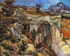 Entrance to a Quarry near Saint Remy Vincent van Gogh art for sale at Toperfect gallery. Buy the Entrance to a Quarry near Saint Remy Vincent van Gogh oil painting in Factory Price. Vincent Van Gogh, Art Van, Paul Gauguin, Dutch Artists, Famous Artists, Van Gogh Arte, Van Gogh Paintings, Dutch Painters, Post Impressionism
