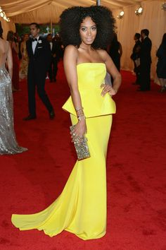 Loving everything on Solange Knowles at the 2012 Met Gala