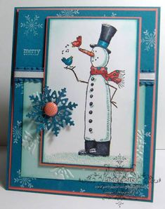 Calypso Island Snowman? by lisa foster - Cards and Paper Crafts at Splitcoaststampers