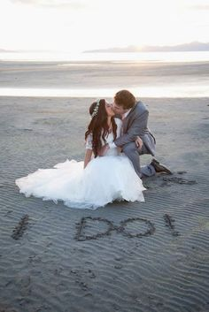 Wedding photography at the beach. Salt Lake Utah
