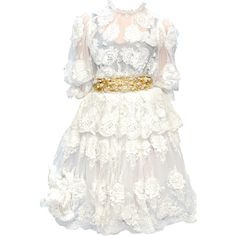edited by Satinee - Trends 2012 collection featuring polyvore fashion clothing dresses gowns satinee vestidos dolce & gabbana dolce&gabbana white dress dolce gabbana dresses