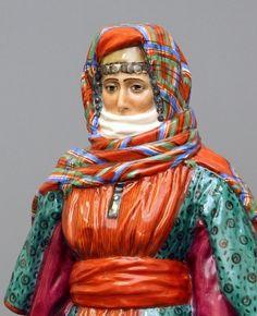 Армянинская женщина Народы России фарфор ИФЗ Armyanskaya female Peoples of Russia porcelain