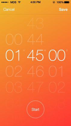 Timer app - by Matt D. Smith