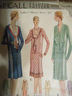 Britt- 1920s Vintage Style Drop Waist One Piece Jumper Dress - ALL SIZES Custom Made