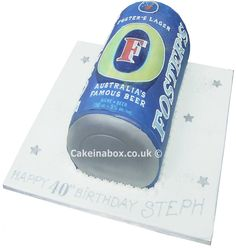 Fosters Can Birthday Cake