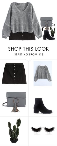 """Rosegal 1.27"" by emilypondng ❤ liked on Polyvore featuring H&M, Abigail Ahern and shu uemura"