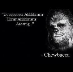 Well said..... Chewbacca!!!! Well said!!!!