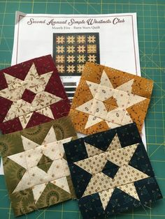 I started a new project yesterday, called Barn Stars. These little blocks are the cutest things ever. It is a Simple What Nots kit I never got around to finishing, and now Small Quilts, Mini Quilts, Quilting Projects, Quilting Designs, Star Quilt Blocks, Block Quilt, Quilt Kits, Quilt Top, Scrap Quilt Patterns