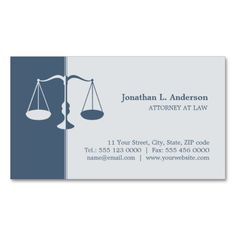 Attorney Lawyer Blue Business Card This Great Design Is Available For