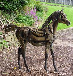 Fine Driftwood bronze foal edition of 5 Jansch contemporary sculpture