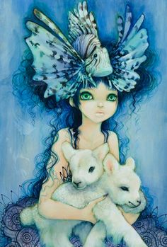 lions and lambs by camilladerrico - Colorful Paintings by Camilla d'Errico Art And Illustration, Camilla, Lion And Lamb, Tumblr, Colorful Paintings, Comic Book Artists, Comic Artist, Beautiful Artwork, Oeuvre D'art