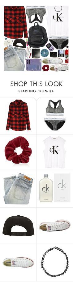 """Throwback: Nostalgic 90's"" by hollowpoint-smile ❤ liked on Polyvore featuring Calvin Klein, Topshop, Denham, Roark, Converse, CASSETTE, Boohoo, women's clothing, women and female"