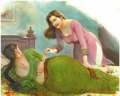 Indian Women Painting, Indian Art Paintings, Old Paintings, Beautiful Paintings, Sexy Painting, Painting Of Girl, Painting & Drawing, Drawing Pics, Fine Art Drawing