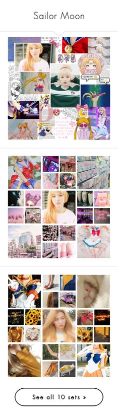 """Sailor Moon"" by sugarpixielh ❤ liked on Polyvore featuring art, kpop, anime, sailormoon, redvelvet, SailorVenus, manga, sailoruranus and sailorsaturn"