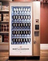 Der erste Champagnerautomat von Moet