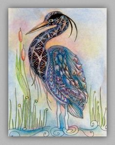 Picture Tangled, Zentangle, Watercolor Tattoo, Gems, Butterfly, Birds, Gallery, Flowers, Pictures