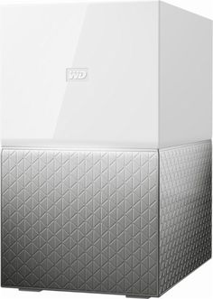 WD - My Cloud Home Duo 4TB 2-Bay Personal Cloud - White - Front_Zoom