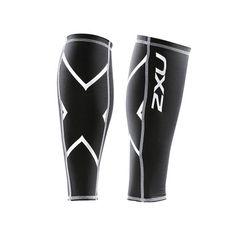Mens Black Compression Socks Calf Guard Tights Stirrups Sleeves Shins Bike Gym