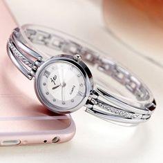 JW 3512 Fashion Round Dial Rhinestones Alloy Lady Bracelet Bangle Women Dress Quartz Watch at Banggood Kids Jewelry, Jewelry Supplies, Jewelry Sets, Jewelry Watches, Women Jewelry, Bangle Bracelets, Bracelet Watch, Valentines Jewelry, Stainless Steel Bracelet