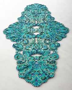 Poseidon Table Runner by Kim Seybert at Neiman Marcus. ~yeah, in my dreams, but this color is just so GORGEOUS!!!