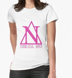 """""""Delta Nu"""" Women's Fitted V-Neck T-Shirts by TiredOfSheep 