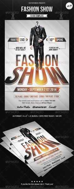Fashion Show - Flyer PSD Template | Buy and Download: http://graphicriver.net/item/fashion-show-flyer-vol04/8540784?WT.ac=category_thumb&WT.z_author=VectorMedia&ref=ksioks