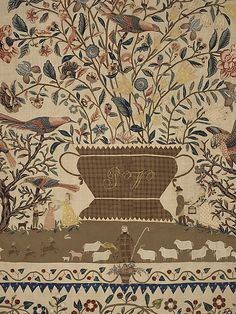 The design of this engaging appliquéd coverlet, made in about 1803 as a wedding present for a New York City bride, emulates Indian Tree of L...