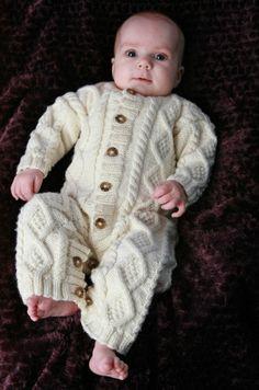 Baby Aran Body Suit, full