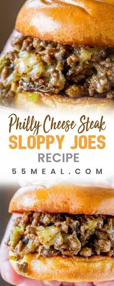 Philly Cheese Steak Sloppy Joes Recipe More from my site Try this Easy Philly Cheesesteak sloppy joes recipe for a quick dinner! Everyone… Philly Cheese Steak Sloppy Joes Philly Cheese Steaks, Meat Recipes, Dinner Recipes, Cooking Recipes, Cheese Recipes, Paninis, Beef Dishes, Food Dishes, Main Dishes
