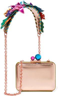 Sophia Webster - Vivi Hula Metallic Leather Shoulder Bag - Pink