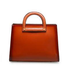 Genuine Leather Handbag Vintage Shoulder Bag Crossbody Bag Clutch Purse For Women
