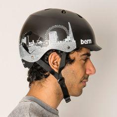 Bern Watts London skyline unisex bike helmet - Black