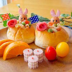 Spring salad bread lunch