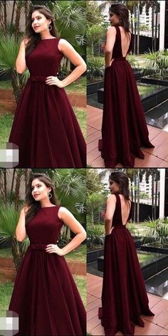 Charming Prom Dress, Long Prom Dresses, Sleeveless Open Back Evening Dress P0260 #promdresses #longpromdress #2018promdresses #fashionpromdresses #charmingpromdresses #2018newstyles #fashions #styles #hiprom #wineredpromdress