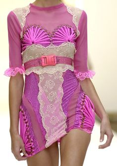 hot pink/purple and lace