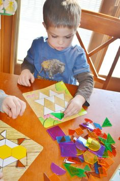 Shapes Don't Bug Me Geometry Activity set by @Learning Resources  - perfect for working on shapes, copy/design skills, fine motor skills, and classroom centers