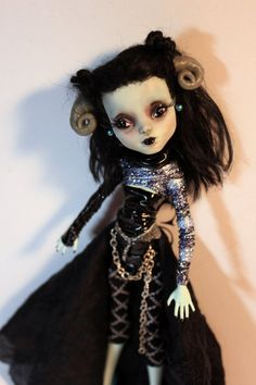 GOTHY Monster High Custom Art Doll Gothic Goth by Refabrications