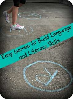 Easy Games to Build Language and Literacy Skills ~ #educationpossible