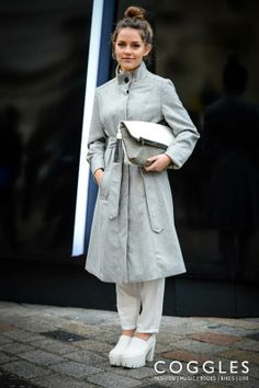 We her statement footwear and oversized clutch. See more Coggles Streetstyle: http://www.coggles.com/life/street-style.list?affil=thgsocial