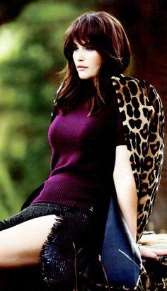 Gemma Arterton - leopard jacket w/raspberry cashmere knit.